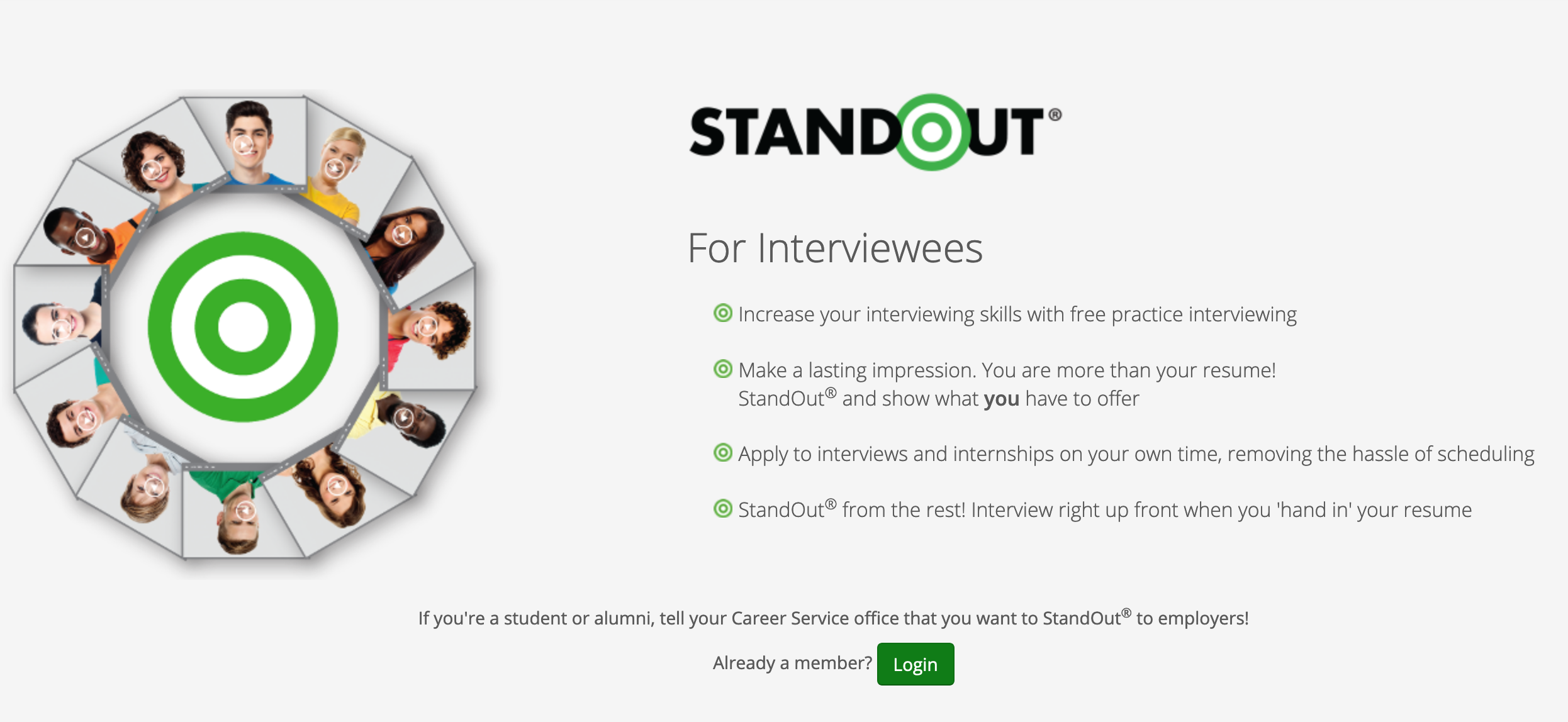 image of standout, the mock interview tool