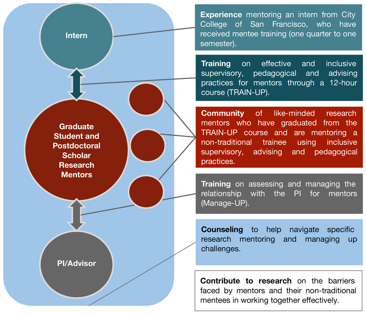 CCSF UCSF Inclusive Mentoring Program diagram